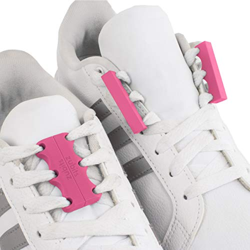 Zubits Magnetic Lacing Solution, Never Tie Laces Again, Pink - #2 - Youth / Adults (No One Stays At The Top Forever)