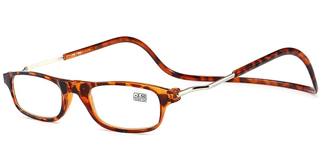 donna Montatura leggera da appendere al collo PANGHU Magnete pieghevole occhiali da lettura con cinghia regolabile lati e magnetico anteriore uomo
