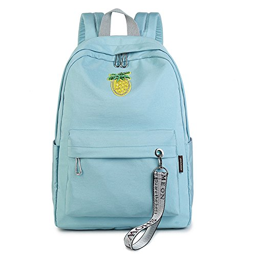 WenL Sweet Lady Backpack College Bags Moda Bolso De Hombro,Pink AquaBlue