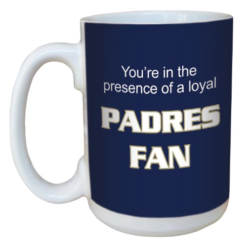 Tree-Free Greetings lm44099 Padres Baseball Fan Ceramic Mug with Full-Sized Handle, 15-Ounce
