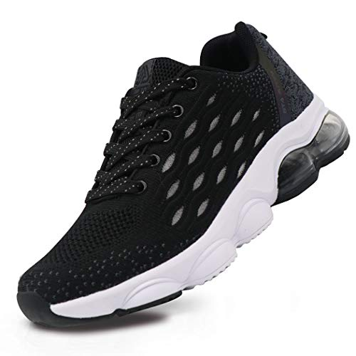 BEITA Women's Tennis Sneakers Lightweight Breathable Training Running Shoes Athletic Air Cushion Black