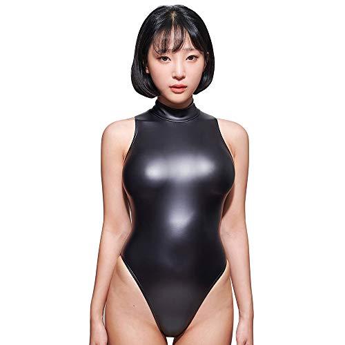 LEOHEX Sexy Matte Zwarte turnpakjes Mouwloos Bodysuit Hoge Cut Een Stuk Badmode Vrouwen Badpakken Japanse Badpakken