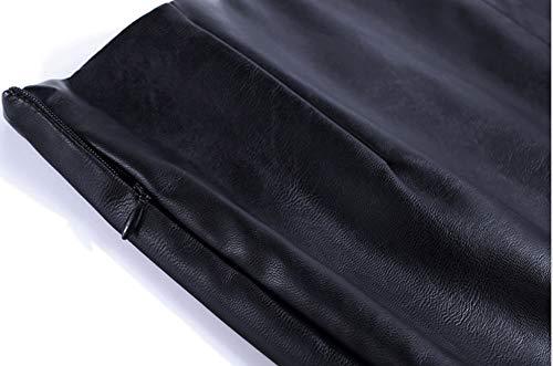 Midi Cuir PU Grande DISSA Bodycon Club FS7615 Jupe Taille Crayon Noir IwcOSapgq
