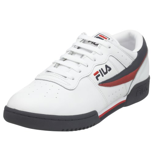 Fila Men's Original Vintage Fitness Shoe,White/Navy/Red,11 M]()