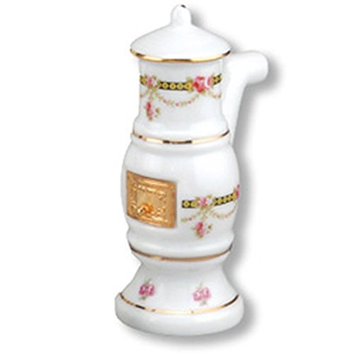 Dollhouse Miniature Victorian Rose Bathroom Stove by Reutter Porcelain