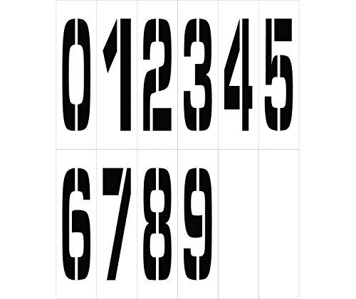 National Marker Corp. PMN36 Individual Character Stencil Number Set 36 Inch