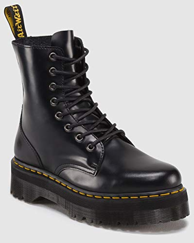 Mens Doc Boots Martens (Dr. Martens Women's Jadon Boot,Black Polished Smooth,6 UK/8 M US)