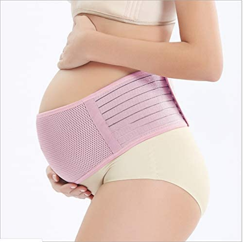 妊婦帯 産前 腹帯 産前産後 妊娠帯 骨盤ベルト マタニティベルト 腰痛緩和 簡単装着 産前産後もこれ一本兼用 調節可 3色 2サイズ L XL (ピンク, L)