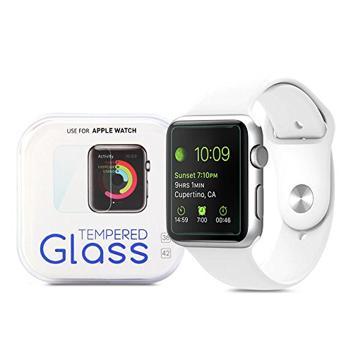 Apple Watch Screen Protector, GMYLE Clear Ultra Tempered Glass Shield Film Guard for Apple Watch 42mm
