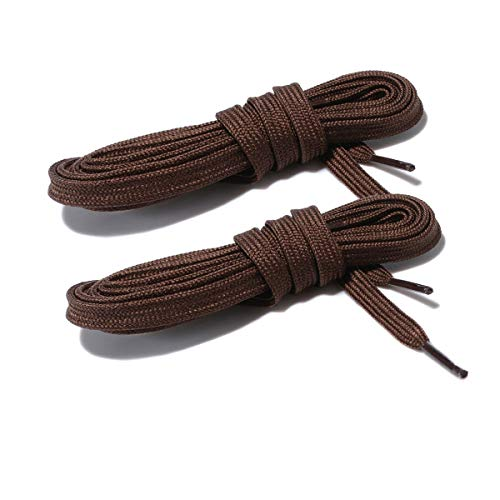 Wide Flat Athletic Shoelaces with Wide Shoelaces Flat Shoe Laces [2 Pairs] [6 Color][8 Size] for Sneakers and Shoes (54