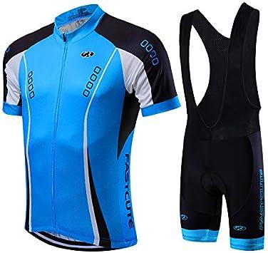 21Grams Conjunto de Ropa de Ciclismo para Hombre Maillot Ciclismo Culotte Ciclismo Top Camisetas de Ciclismo Bicicleta MTB Secado Rápido Transpirable: Amazon.es: Deportes y aire libre