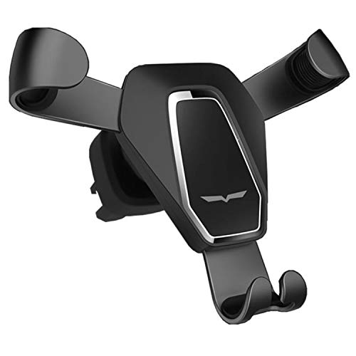 Fit-Fun one Touch Gravity Auto-Clamping Rotating Adjustable 360° Rotation Metal Multi-Angle Universal Car Vent Phone Mount Holder Cradle car Vehicle air Vent GPS iPhone Samsung Android ()
