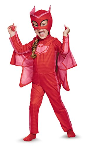 4t Halloween Costumes (Owlette Classic Toddler PJ Masks Costume, Medium/3T-4T)