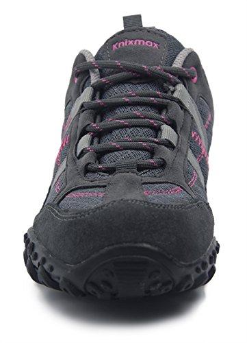 Knixmax Escursionismo Scarpe comodi traspiranti da Basse leggeri Arrampicata Donna Grigio Passeggio CCwr6TxqS