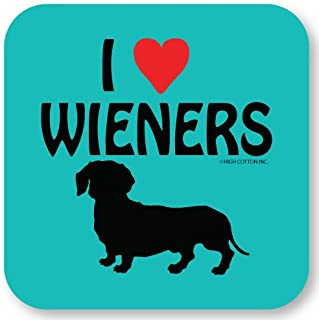 """product image for """"I (Heart) Weiners"""" Dachshund Coasters (Set of 4)"""