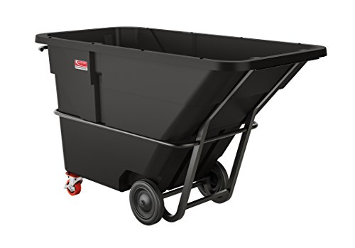 Suncast Commercial Towable Standard Duty Roto Molded Tilt Truck, 1.5 cu. yd. - 1 1/2 Cubic Yard