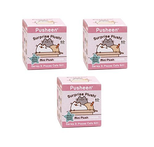 (Gund Pusheen Blind Box Series #3 Surprise Plush 3-Pack Bundle)