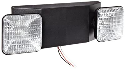 Morris Products 73121 Emergency Lighting Unit, Low Profile Side Lights, Black, 16 Length, 5 Height, 5 Depth, Standard Style