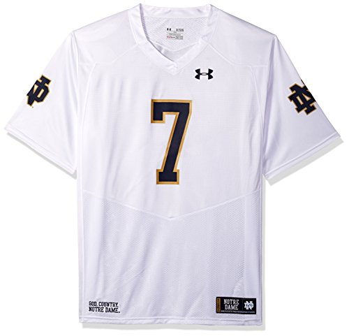 Under Armour NCAA Notre Dame Fighting Irish FG205068A14 Childrens Official Sideline Jersey, X-Large, White ()