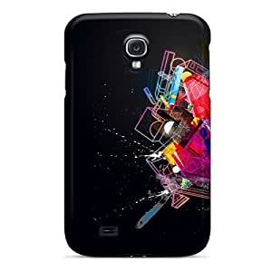 For LisaMichelle Galaxy Protective Case, High Quality For Galaxy S4 Abstract Shapes Skin Case Cover