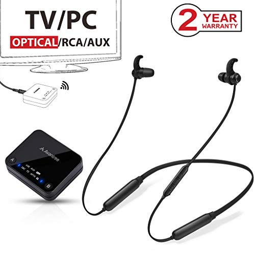 Buy Cheap Avantree HT4186 Wireless Neckband Headphones Earbuds for TV Watching & PC with Bluetooth T...