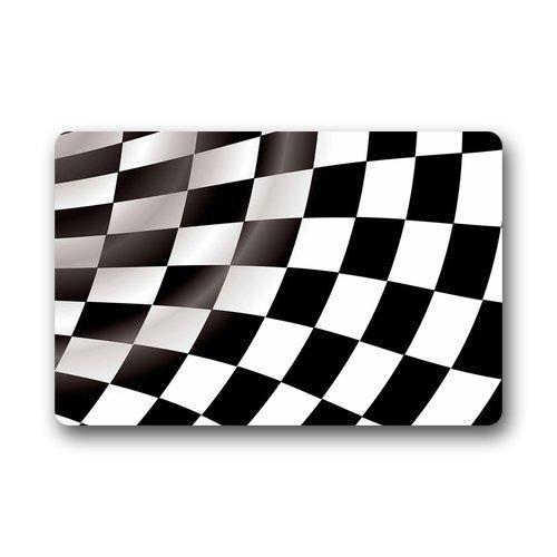 Checkered Flag Doormat Outdoors/Indoor Machine Washable Home Floor Mats Rugses