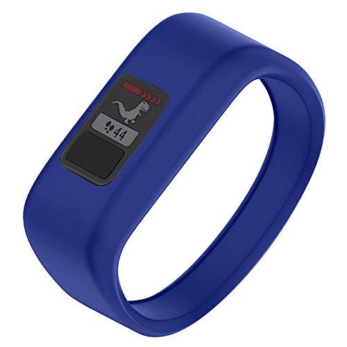 NotoCity Compatible Vivofit JR Bands Soft Silicone Replacement Watch Bands for Vivofit JR/Vivofit JR 2/Vivofit 3,Dark Blue Small