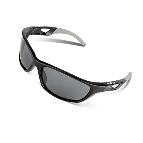 Image of RIVBOS Polarized Sports Sunglasses Driving Sun Glasses for Men Women Tr 90 Unbreakable Frame for Cycling Baseball Running Rb831 (Black&Grey)