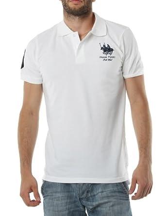 Polo FRANK FERRY Homme ff02 blanc - -: Amazon.es: Ropa y accesorios