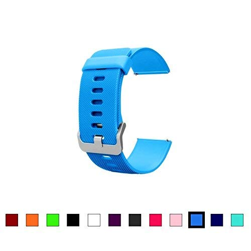Dunfire Replacement Straps for Fitbit Blaze, Colorful Accessory Watch-Style Band/Wristbands with Buckle for Fitbit Blaze Smart Fitness Tracker (Royal Blue, Large)