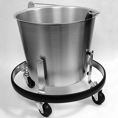 Kick Bucket with Rolling Stand, 13 qt. - Kick Bucket, Reusable Grade, Sklar