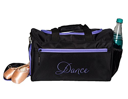 Dance Bag Clip - Horizon Dance 6636 Emmie Embroidered Dance Gear Duffel Bag - Lavender