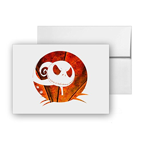 Jack Nightmare Before Christmas, Blank Card Invitation Pack, 15 cards at 4x6, with White Envelopes, Item 1386231 -