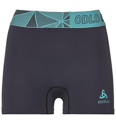 Odlo Smart sous-Pantalon Femme, Blue Jewel/Safety Yellow, FR : M (Taille Fabricant : M)