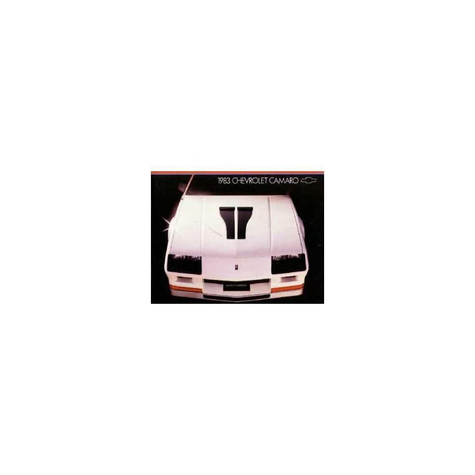 1983 Chevrolet Camaro Sales Brochure Literature Advertisement Options Colors