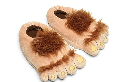 Novelty Warm House Slippers Hobbit Savage Furry Adventure Slippers for Adults