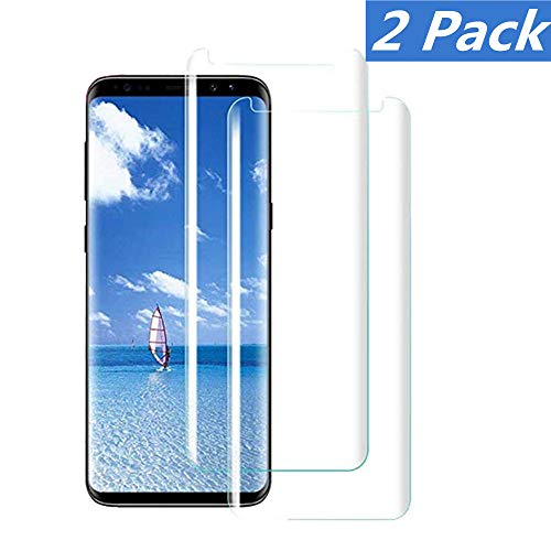 [2 - Pack] Compatible Samsung Galaxy S8 Tempered Glass Screen Protector,[9H Hardness][Anti-Scratch] [Anti-Fingerprint][3D Curved][Ultra Clear] Screen Protector for Galaxy S8
