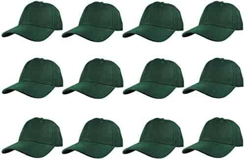 Bright Sun Plain Hunter Green Blank Solid Adjustable Baseball Cap Hats  Wholesale lot 12pcs  FSAS c1efdb6c014f