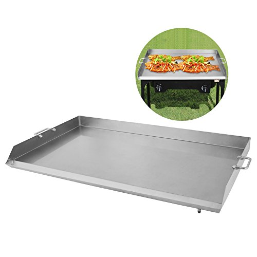 Mophorn Universal Flat Top Griddle 36'' x 22'' Stainless Steel Non-stick Burner Griddle with Removable Handles for BBQ Grills by Mophorn
