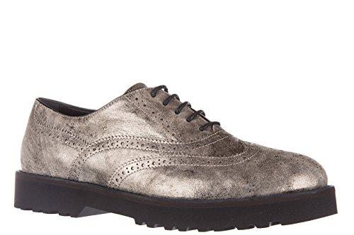Hogan scarpe stringate classiche donna in pelle nuove h259 route francesina  buca ...
