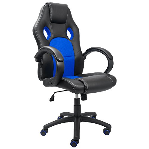 418DTdHqr0L - Devoko-Office-Chair-High-Back-PU-Leather-Racing-Style-Chair-Ergonomic-Swivel-Gaming-Computer-Chair-Swivel-Desk-Chair-Bucket-Seat-Headrest-Support