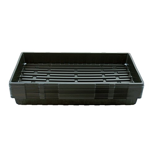 "10 Earth Start Seed Propagation Trays (No Drain Holes) - 20"" x 10"" - Seed Starter Grow Trays: For Seedlings, Indoor Gardening, Hydro or Soil"