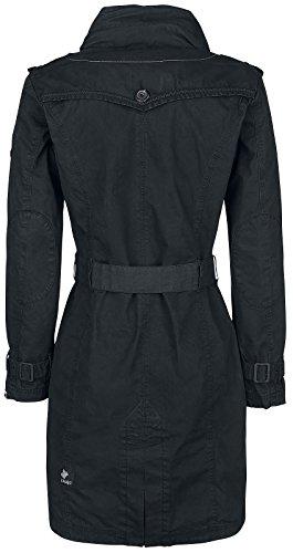 Negro Menna Mujer Khujo Abrigo Negro wpO8qaA