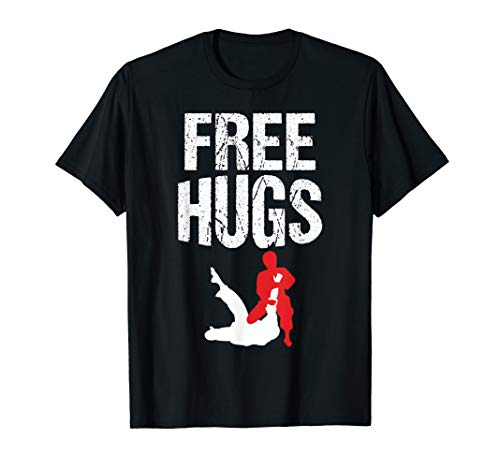 Cute Free Hugs Jiu Jitsu BJJ Martial Arts T-Shirt
