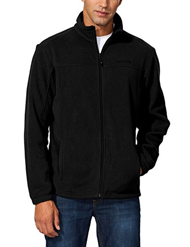 Baleaf Men's Outdoor Fleece Jacket Full Zip Thermal Black Size XXXL ()