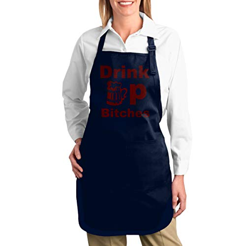 - Hidden Ambition Drink Beer Sexy Aprons for Women with Pockets, Mens Kitchen Aprons with Pocket for Waiter Cooking Baking Crafting Gardening BBQ