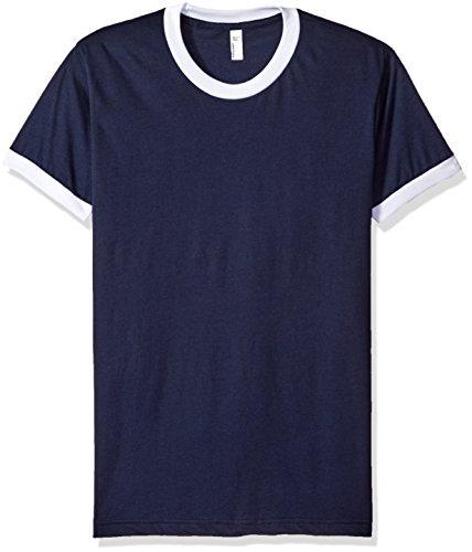 American Apparel Mens Poly-Cotton Short Sleeve Ringer T-Shirt