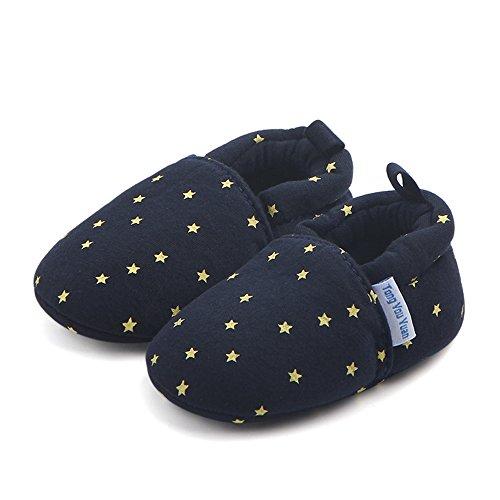 TININNA Baby Mädchen Jungen Fünf-spitzen Stern Muster Baumwolle Schuhe Soft Sole Prewalker Krippe Schuhe