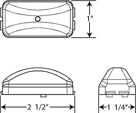 Waterproof LED Fleet Count Sealed Marker//Clearance Light Optronics AL90AS 158-AL90AS