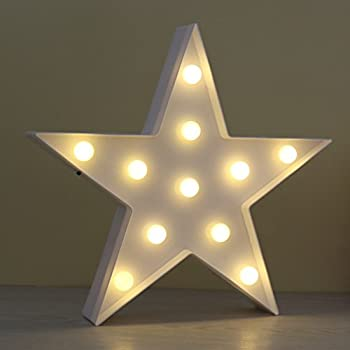 star shaped lighting. JUHUI Marquee Light Star Shaped LED Plastic Sign-Lighted STAR Sign Wall Décor Battery Lighting I